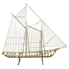 """Mariner"" Clipper Ship Sculpture, Curtis Jeré for Artisan House"