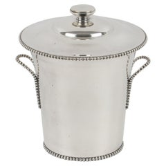 1940s French Art Deco Silver Plate Ice Bucket