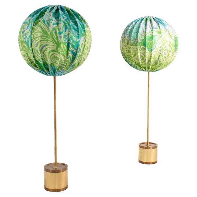Pair of Midcentury Floor Lamps by Hans Agne Jacobsson, Made in Sweden For Sale