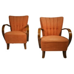Set of Two Armchairs Designed by Jindřich Halabala, Model H-237