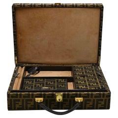 Vintage Fendi Monogram Briefcase 24 Hours Document and Jewel Case, 1960s