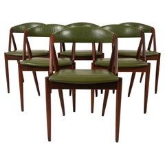 Danish Modern Rosewood Dining Chairs by Kai Kristiansen 1960s, Set of 6