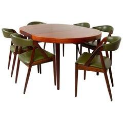 Danish Modern Rosewood Dining Room Set by Kai Kristiansen 1960s
