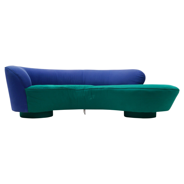 Vladimir Kagan for Directional Serpentine Sofa