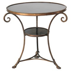 French Louis XVI Style Round Gueridon Marble Table