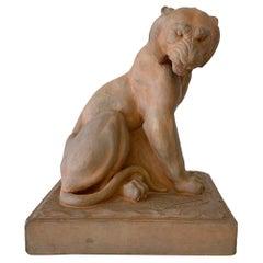 Terracotta Sculpture by Raymond De Meester, 1940s, Belgium