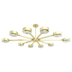 Oculus Articulating Ceiling Light by form A, Oval Version with Carved Glass
