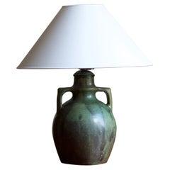 Royal Copenhagen, Table Lamp, Stoneware and Metal, Denmark, 1927