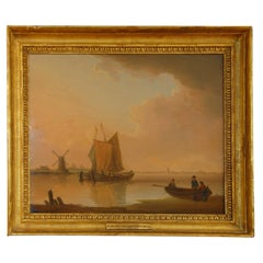 English Maritime Original Oil on Board Signed William Anderson Dated 1797