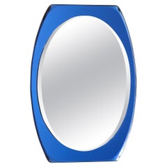 1950's Mid-Century Modern Blue Glass Frame Italian