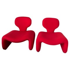 Pair of Djinn Chairs, 1960s, by Olivier Mourgue for Airborne