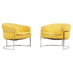 Pair of Milo Baughman Lounge Chairs, USA, 1960s
