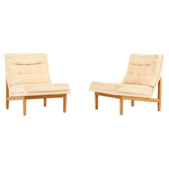 Pair of 51W Florence Knoll Lounge Chairs by Knoll Associates, USA, 1950s