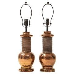 Bitossi Copper Lustre Glazed Lamps