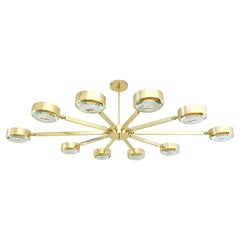 Oculus Articulating Ceiling Light by Form a Oval Version with Carved Glass