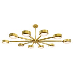 Oculus Articulating Ceiling Light by Form A, Oval Version with Murano Glass