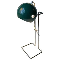 Scandinavian Space Age Green Ball Table Lamp by E. S. Horn, 1960s