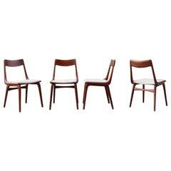 Alfred Christensen Boomerang for Slagelse Danish Teak Dining Chair Set of 4
