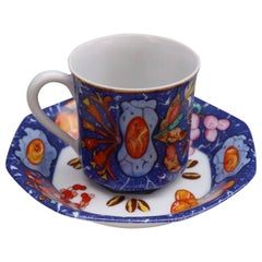 """Hermès, """"marquetry"""" of Pierres d'Orient Et d'Occident Set of 10 Coffee Cups"""