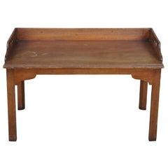 Early American Morganton Tidewater Windsor Mahogany Butler Tray Table 70-503