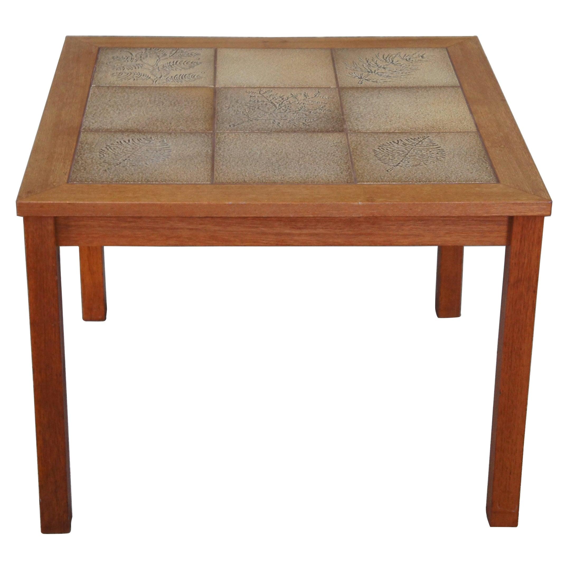 1960s Mid Century Danish Modern Tiled Square Corner End Table Denmark