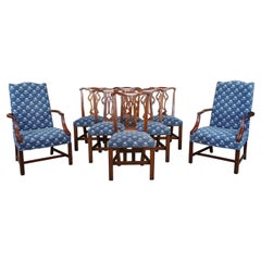 8 Hickory Chair Martha Washington James River Mahogany Chippendale Dining Chairs