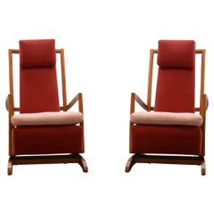 Set of 2 Spring Rocking Chairs, 80s
