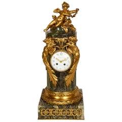 Louis XVI Style Marble and Ormolu Mantel Clock, by Sormani, circa 1880