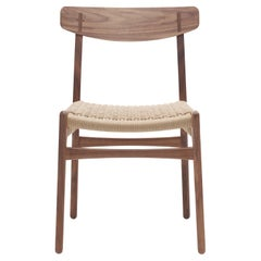 CH23 Dining Chair in Walnut Oil with Natural Papercord Seat by Hans J. Wegner