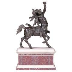 19th Century Large Bronze of Centaur with Eros
