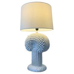 1970's Ceramic Cactus Lamp Italian