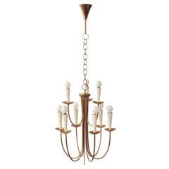 Italian 1950s Ceiling Lamp in Brass