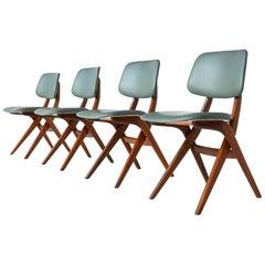 Louis Van Teeffelen Scissor Dining Chairs Webe, the Netherlands, 1960