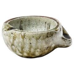 Jacqueline and Jean Lerat La Borne Stoneware Ceramic Ashtray Modern Form 1950