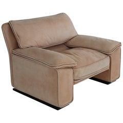 Italian Midcentury Vintage Nappa Leather Sofa by Ferruccio Brunati, 1970s