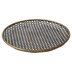 Mathieu Mategot Black Perforated Metal Tray