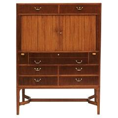 Danish Cabinetmaker Mahogany Workstation Cabinet