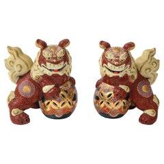Japanese Export Porcelain Foo Dogs