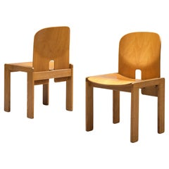 Afra & Tobia Scarpa '121' Dining Chairs in Maple and Ash