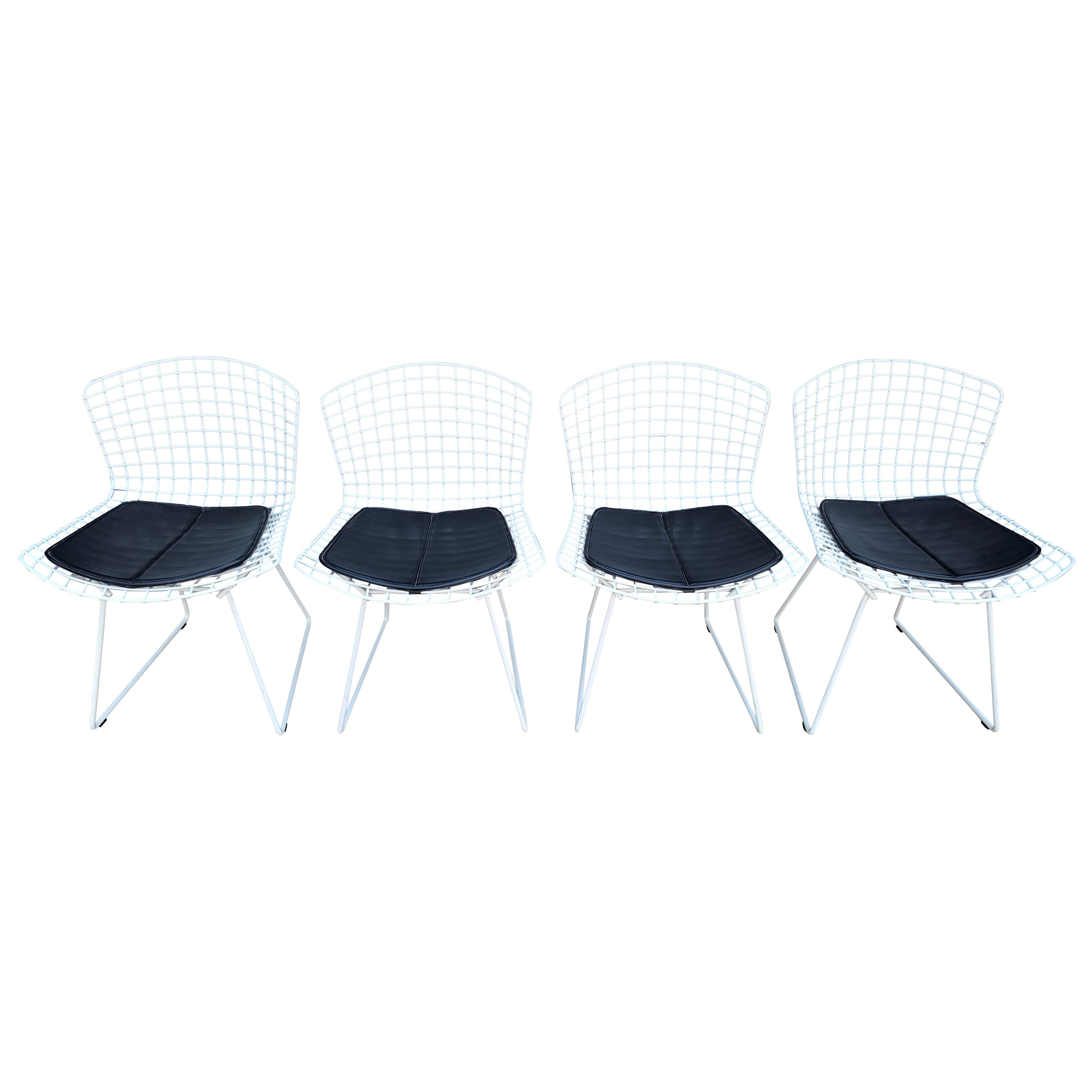 Harry Bertoia for Knoll Wire Dining Chairs Set 4