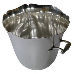 French Silver Plated Champagne Bucket / Wine Cooler by Ercuis, Paris