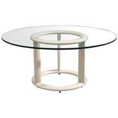 Round Pozzi Table with Glass Table Top