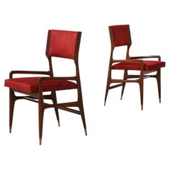 12 x Model #676 Dining Chairs by Gio Ponti for Cassina