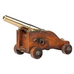 Fine Bronze 3-Stage Signal Cannon