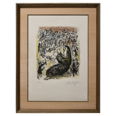 """Marc Chagall Limited Edition Lithograph """"Jeremiah"""" 37/50, Circa 1980"""