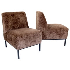 Pair of French Designer Alain Richard Lounge Chairs