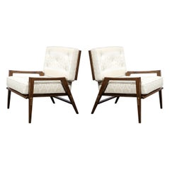 Pair of Mid Century Modern Oak Lounge Chairs by Harold Schwartz for Romweber Co.