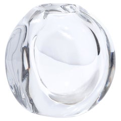 Swedish Mid-Century Modern Translucent Glass Vase by Göran Wärff for Kosta Boda