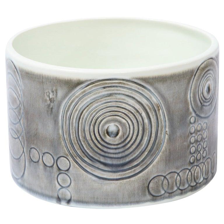"Swedish Mid-Century Modern ""Sarek"" Ceramic Vase by Olle Alberius for Rörstrand For Sale"
