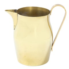 Mid-Century Modern Brass Pitcher by Tommi Parzinger for Dorlyn Silversmiths
